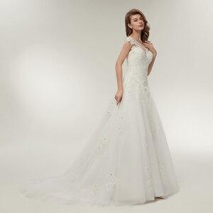 Image 2 - Fansmile Tulle Mariage Vestidos de Novia Embroidery Lace Mermaid Wedding Dress 2020 Bridal Gowns Plus Size Customized FSM 138M