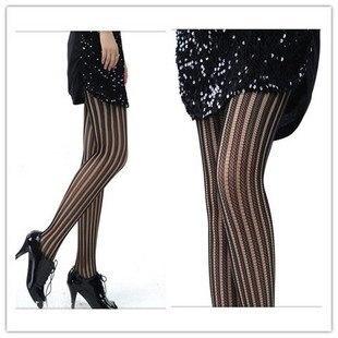 NET vertical stripe socks H1271