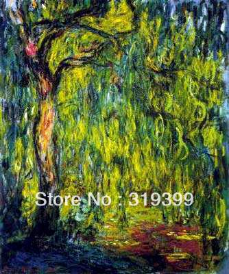 Claude Monet Oil Painting Reproduction on Linen canvas,Weeping Willow,100% handmade,Free DHL Shipping,museum Quality,LandscapeClaude Monet Oil Painting Reproduction on Linen canvas,Weeping Willow,100% handmade,Free DHL Shipping,museum Quality,Landscape