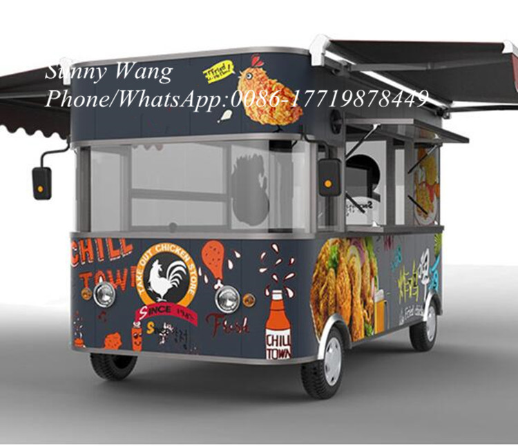 2020fried Chicken And Beer Mobile Electric Snack Fast Food Cart/truck/trailer Outdoor Use With Drive Power