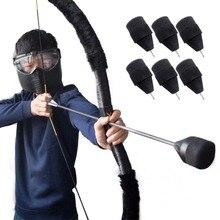 6 PCS Sponge Safety Arrows ID 6.2 mm fiberglass shaft Arrowheads Broad Head Tag CS Game Shooting Hunting Archery Arrow