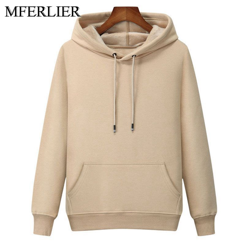 MFERLIER Winter Spring Men Hoodies 5XL 6XL 7XL Bust 130cm Plus Size Loose 8 Colors Large Size Sweatshirts Men