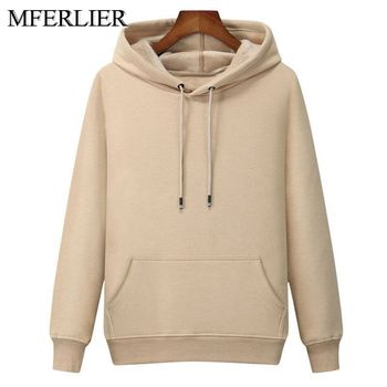 MFERLIER Winter Spring men Hoodies 5XL 6XL 7XL Bust 130cm Plus size Loose 8 colors large size Sweatshirts men Others Men's Fashion