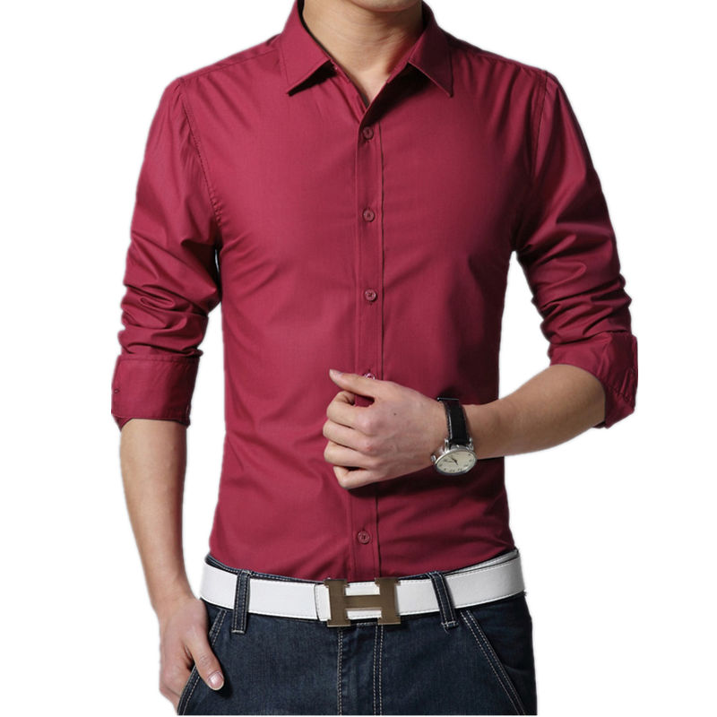 Buy 17 colors 2017 new brand mens dress for Best place to buy mens dress shirts