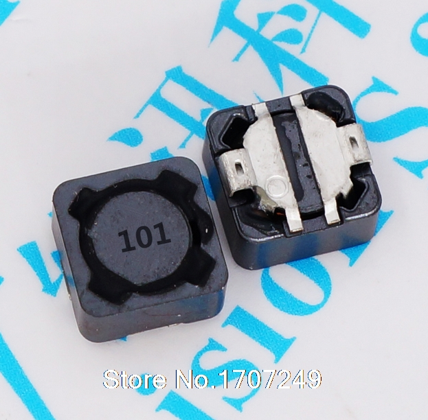 Free Shipping 100pcs/lot 7*7*4 100UH Power shielding inductance SMT SMD Patch Shielding Power Inductors M89 (Marking: 101)