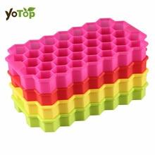 цены YOTOP 37 Grids Random Silicone Honeycomb Ice Cream Maker Ice Cubes Mold DIY Silicone Trays Molds Kitchen Bar Tool