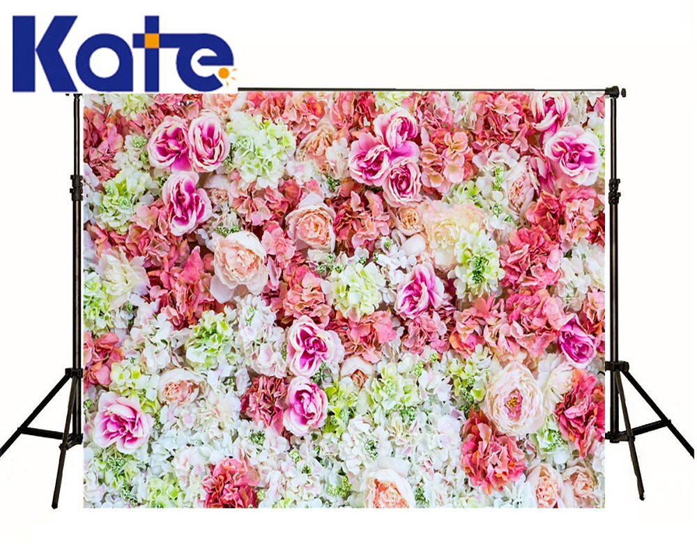 Kate Happy Birthday Theme Backdrops Beautiful Flowers Bed For