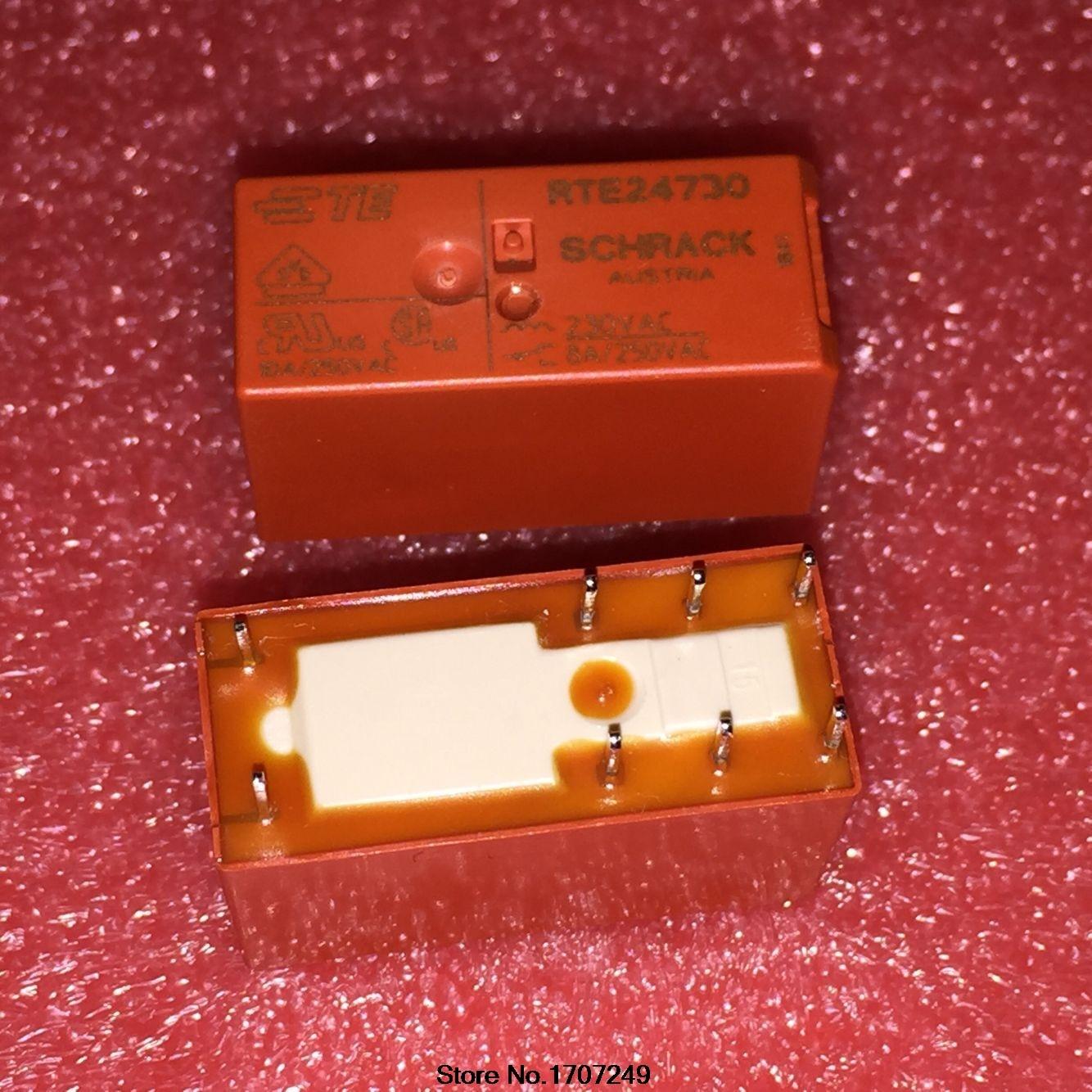 Free Shipping 100 new original relay 10pcs lot RTE24730 8PIN 230VAC