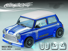 1set M03 Mini 1/10 1:10 M car PC body shell 210mm wheelbase Transparent clean no painted drift for RC CARTEN