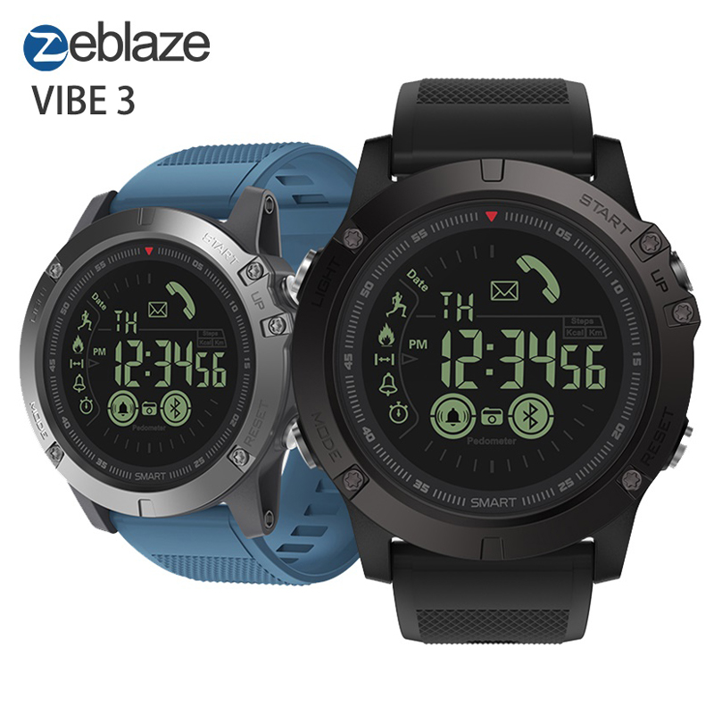 Zeblaze VIBE 3 Flagship Rugged Sport Smartwatch 33-month Standby Time 24h All-Weather Monitoring Smart Watch Men For Android IOSZeblaze VIBE 3 Flagship Rugged Sport Smartwatch 33-month Standby Time 24h All-Weather Monitoring Smart Watch Men For Android IOS