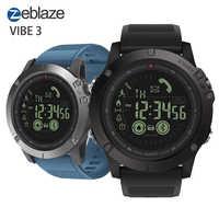 Zeblaze VIBE 3 Flagship Robusto Astuto Della Vigilanza Degli Uomini di 33-mese Standby Tempo di 24h Monitoraggio per Tutte Le Stagioni di Sport smartwatch Per Android IOS