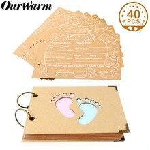 OurWarm cartes à conseils pour fête prénatale en forme déléphant, livre dor, livre dor, album Photo danniversaire, 19cm x 14cm x 2.1cm