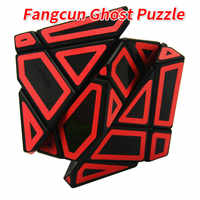 FangCun 6cm 3x3 Ghost Puzzle Black Base Cube Magic Cube Puzzle Hollow Sticker Speed Cube Educational Toys Gh-ost-Cube