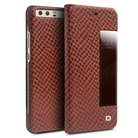 Qialino Real Genuine Leather Case For Huawei Ascend P10 Case For Huawei P10 Plus Flip Cover