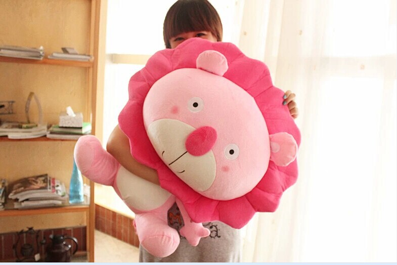 big lovely stuffed animal lion toys plush toys cartoon leo lion doll birthday gift pink about 60cm 60cm dolphin lovely chicken colorful plush toys birthday chick stuffed doll blue or pink whale gift stuffing toy c38