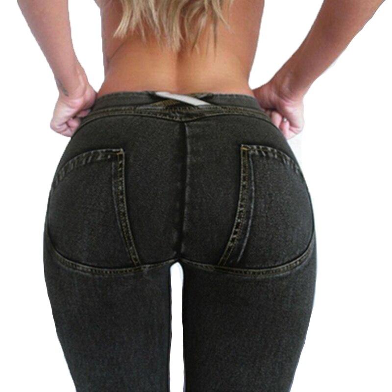2018 Nouvelle mode Taille Basse Épais Leggings Femmes Sexy Hip Push Up Pantalon Legging Jegging Gothique Leggins Jeggings Legins