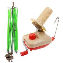 Suporte enrolador de fio de lã, 2 peças, tricô, linha de enrolamento de fio de crochê, ferramenta de artesanato