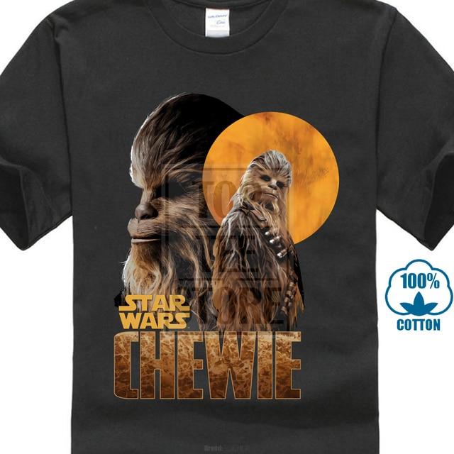 bf3e78da Solos Best T-Shirt Star Wars Tee Shirts Men Black Tshirt Short Sleeve  Summer Clothing 3D Chewbacca Tops Captain Tee Cotton