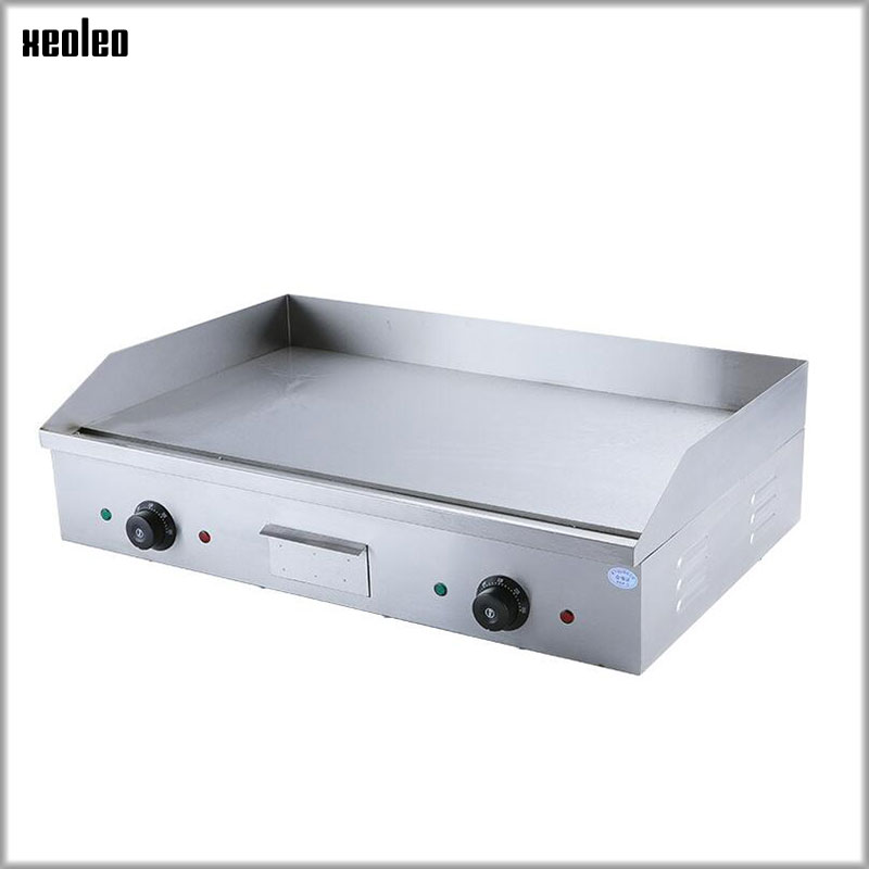 XEOLEO Electric Flat plate griddle Multifunction Commercial Grill Hand cake baking machine Double Temperature Control 4400W CE ru stock electric griddle barbecue griddle machine with half flat plate half groove plate double temperature controllers