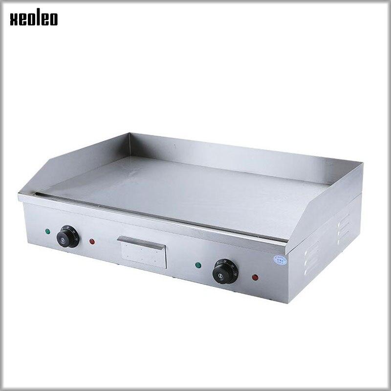 XEOLEO plaque chauffante électrique multifonction Commercial gril main gâteau cuisson machine Double contrôle de température 4400 W CE