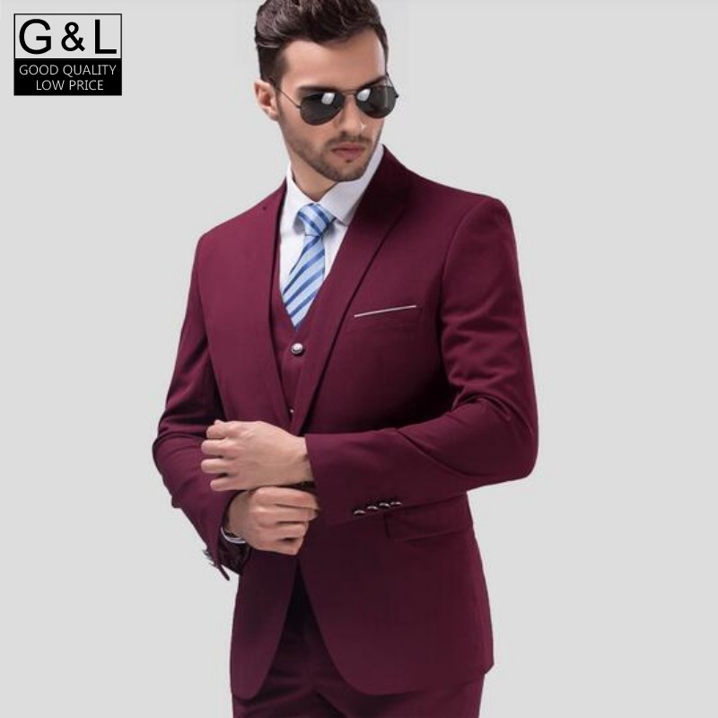 1fa1db7d High Quality New Male Mens Slim Chic Tuxedo 3 Piece Wedding Dress Formal  Suits Coats Pant Vest Business Blazers Plus Size-in Blazers from Men's  Clothing & ...