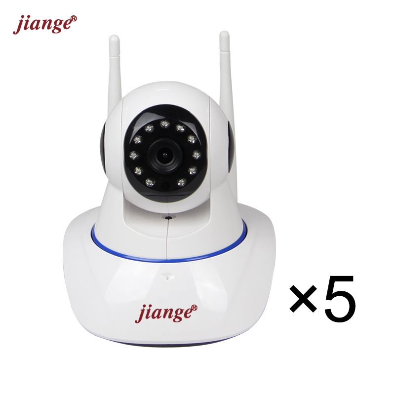 jiange Mini Cloud Storage IP Camera 720P HD WiFi Video Surveillance Camera Suit for Three Room and Two Halls 5 Items in 1 Parcel et16 intelligente scanner portatile con 34 lingue ocr e wifi connect per czur cloud storage