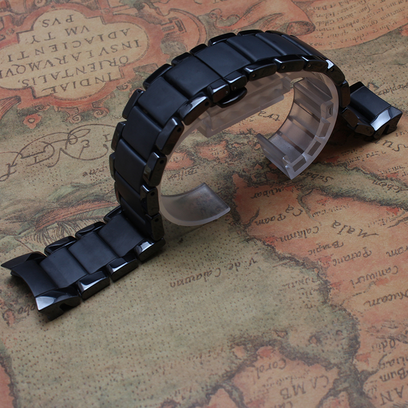 New 22mm 24mm Watchband special curved ends for 1451 1452 Watch Strap Bracelet ceramic polished and unpolished color fashion hot цена