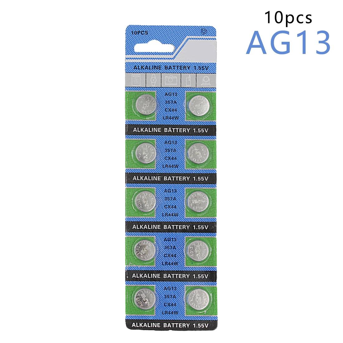 цена на centechia Hot Sale 10 Pcs AG13 LR44 357A S76E G13 Button Coin Cell Battery Batteries 1.55V Alkaline