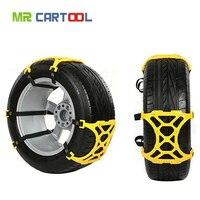 6Pcs Set Universal Car Tyre Winter Roadway Safety Tire Snow Chains Climbing Mud Ground Anti Slip