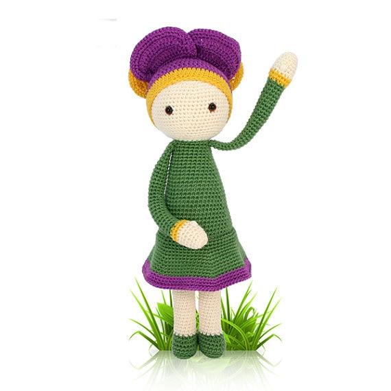 """Crochet  amigurumi doll """"Violet Vicky"""""""