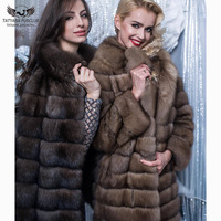 Tatyana Furclub Natural Fur Coats Fox Real Fur Jacket Fashion Style Long Women's Jacket Overcoat Winter Coats Women Clothes 2018