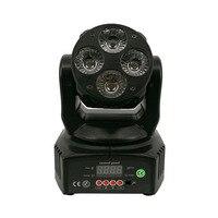 LED Wash Moving Head 4X18W 6in1 RGBWA UV DMX512 Professional DJ Equipment Mini LED Moving Head