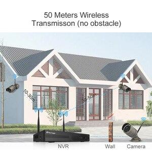 Image 5 - Techage 4CH Sistema Cctv Wireless 1080P Hd Nvr 4 Pcs 2.0MP Ir Esterna Impermeabile P2P Wifi Sistema di Telecamere di Sicurezza kit di Sorveglianza