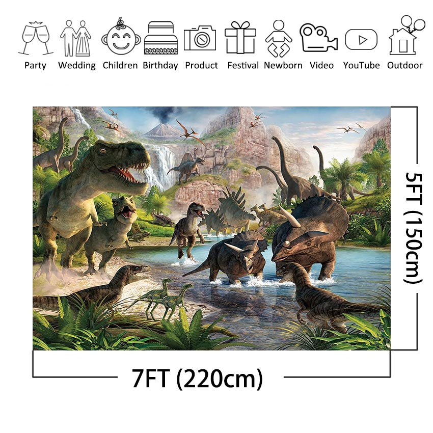 62b4914058fdb8 MEHOFOTO Jurassic World Photography Backdrop Dinosaur Safari Jungle Party  Backdrops for Birthday Decorations Photo Background -in Background from  Consumer ...