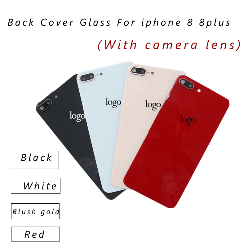 AAA+++Back Cover Glass Rear Housing For iPhone 8 Plus 8 Rear Door Body Assemble Housing Replacement Parts with Camera Flash Lens(China)