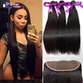 Cheap Peruvian 13x4 Lace Frontal Closure With Bundles Unprocessed Straight Hair 3 Bundle and Frontal Closure Deal Free Shipping