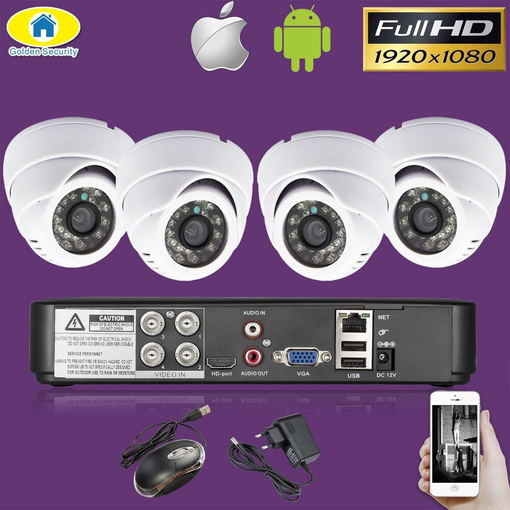 4CH DVR CCTV системы шт. 4 шт. камера s 4CH 2.0MP ИК Крытый безопасности камера 1080P HDMI AHD CCTV DVR 3000 ТВЛ комплект видеонаблюдения