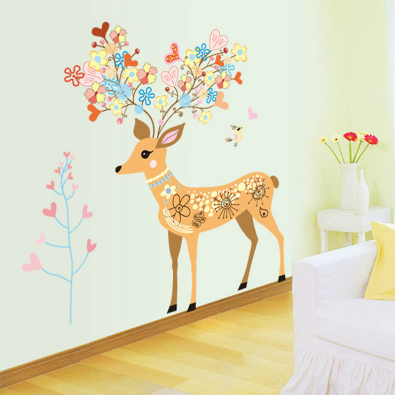 ᗜ Ljഃ2017 New Cartoon Wall Stickers For Kids Rooms Bedroom ...