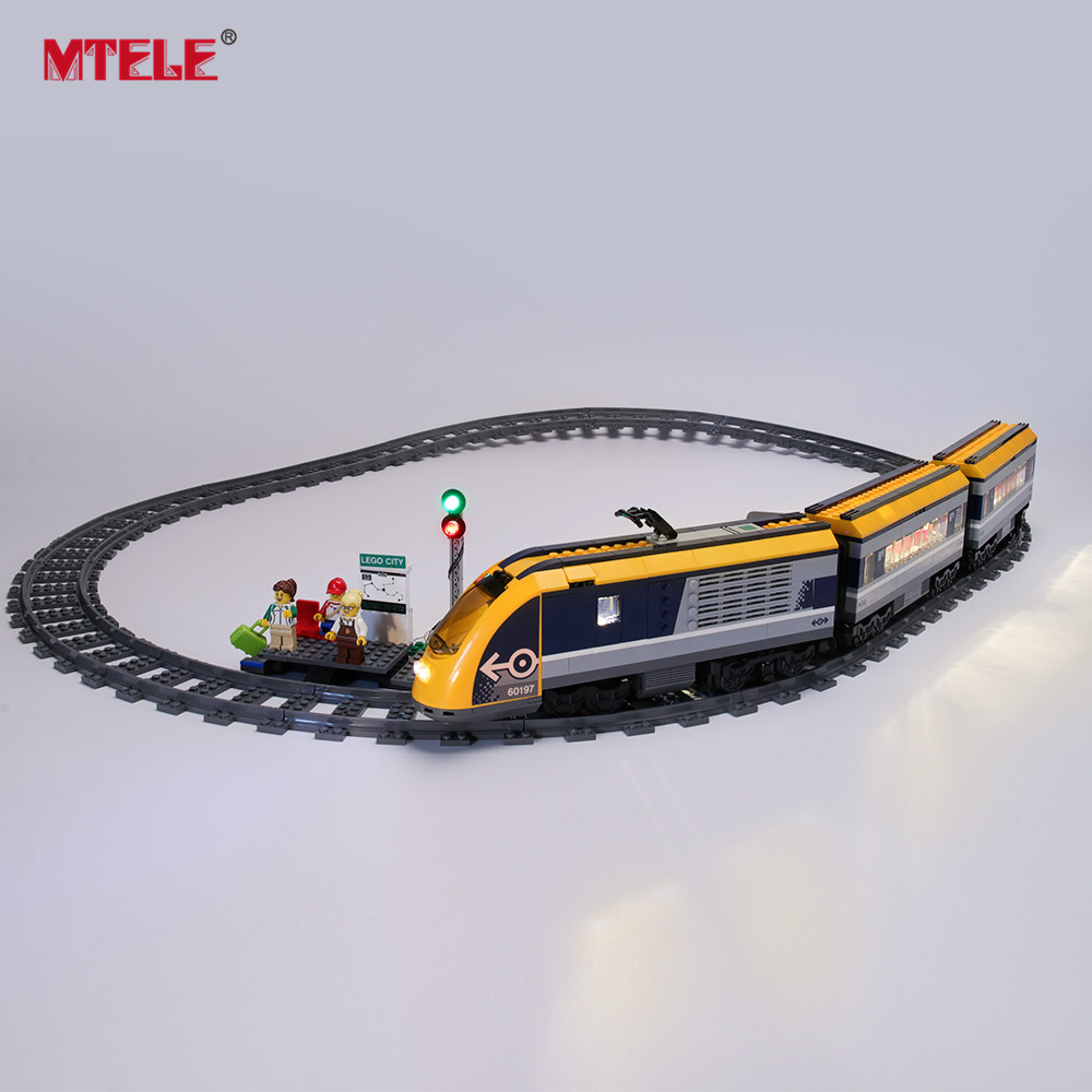 MTELE Brand LED Light Up Kit For City Series Passenger Train Lighting Set Compatile With 60197 (Model NOT Included)
