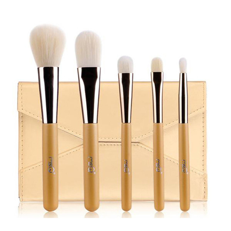 MSQ Professional Portable 5pcs Wood handle Makeup Brushes Set Powder eye shadow Artificial fiber Make Up Brushes Cosmetic Tool цены онлайн