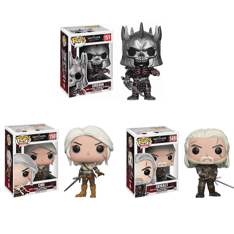 Funko Pop  The Witcher 3 - Wild Hunt: Geralt CIRI PVC Action Figure Collectible Model Toys