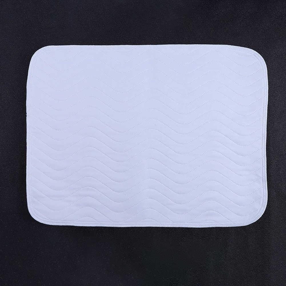 6pcs 재사용 가능한 빨 패드 성인용 흡수 패드 요실금 패드 매트리스 바닥 매트 쿠션 블루 + 화이트 45*60