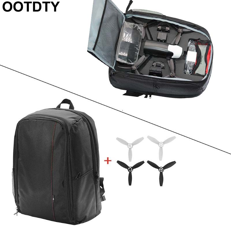 1Set Portable Backpack Travel Shoulder Bag Carrying Case Propellers For Parrot Bebop 2 FPV Drone Accessories