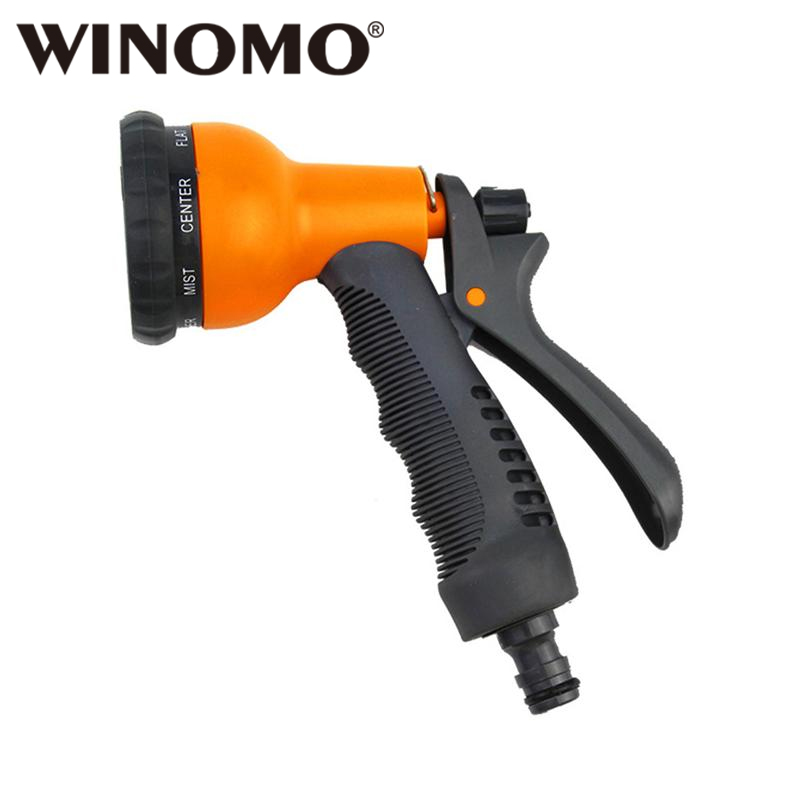 Winomo Hose Spray Nozzle High Pressure Heavy Duty Adjustable Hand Sprayer With Trigger And Flow Control Setting Watering & Irrigation Home & Garden