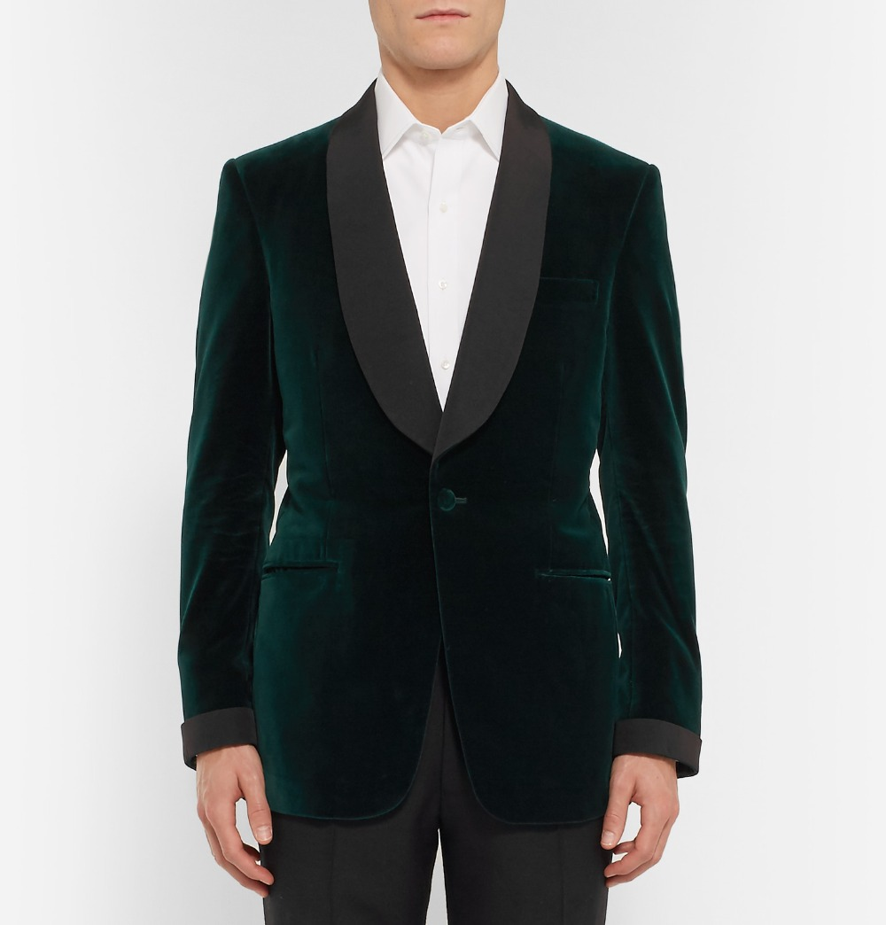 suit jacket Picture - More Detailed Picture about Green Velvet ...