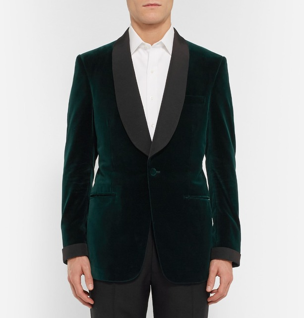 9f9f264b32a Green Velvet Tuxedo Jacket Designs Custom Made Men Suit jacket Elegant Smoking  Dinner Jacket Slim Fit Wedding Suits For Men