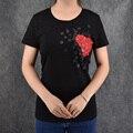 Amor Impreso Floral de La Marca de Moda Mujeres de la Camiseta T-shirt Mujeres Tops Camiseta Femme Nuevas Llegadas de La Venta Caliente Casual Blusa del Envío Gratis
