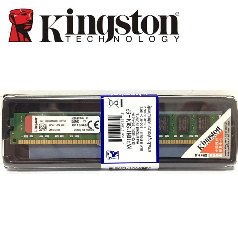 Kingston Ram DDR3 4 GB 1600 MHz De Bureau Mémoire 240pin 1.5 V D'origine en boîte Nouvelle DIMM Approprié pour DDR3 cartes mères 4G 1600 MHZ