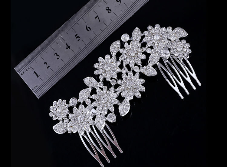 Silver Crystal Wedding Bridal Bridesmaid Jewelry Sets Alloy Necklace Earrings Crown Jewelrys For Women Hot Sale (5)