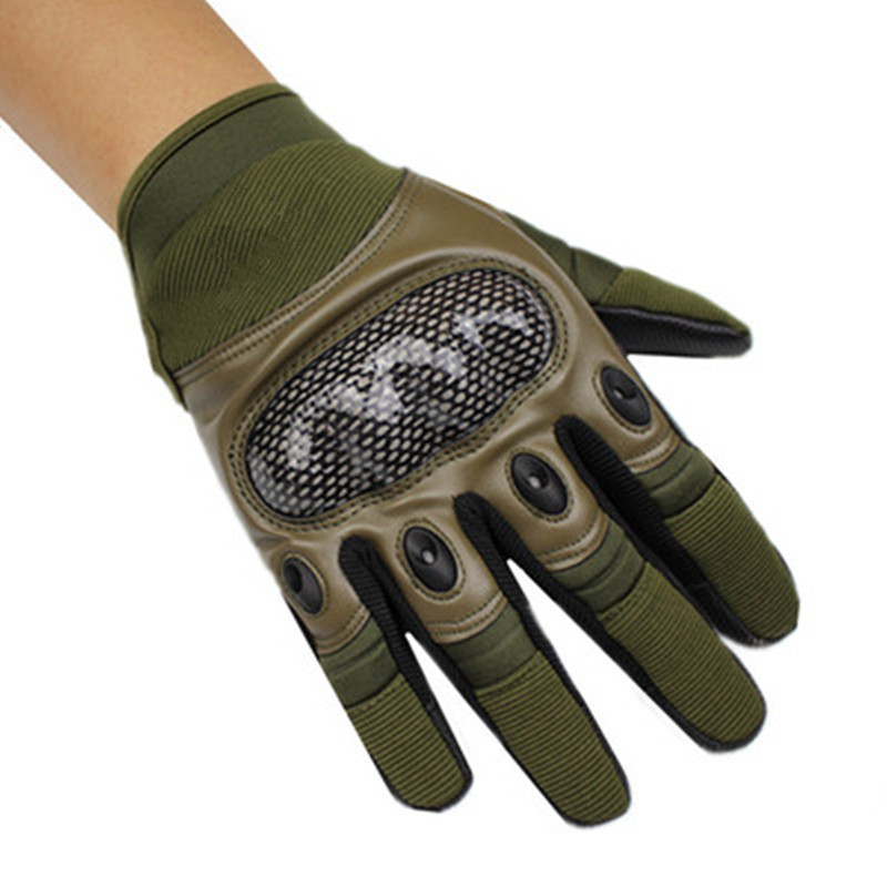 Leather Patchwork Tactical Sport Gloves s